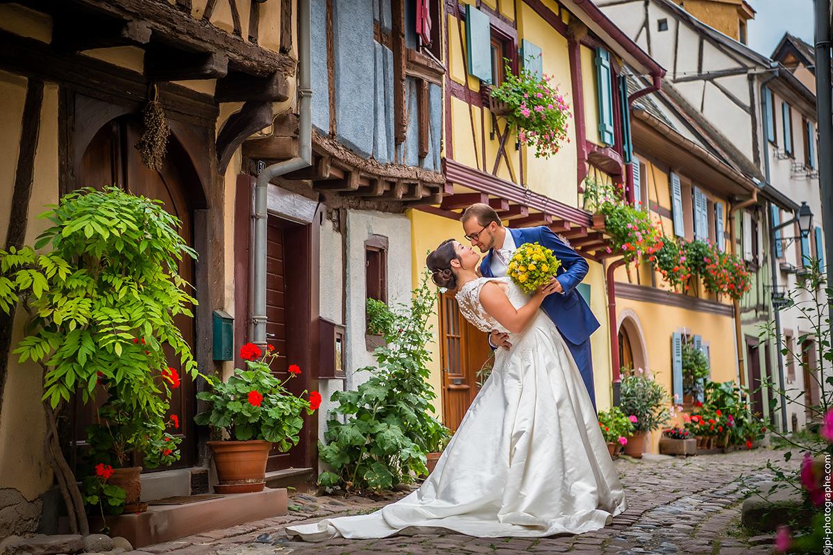 photo de mariage à Eguisheim