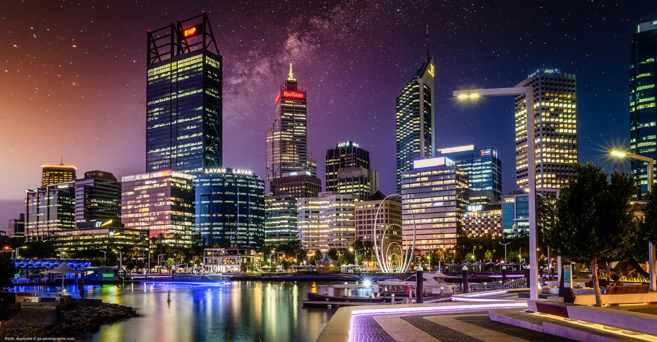 photographie JPI Mulhouse Australie Perth by night